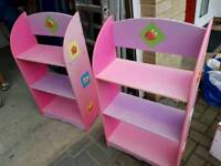 Pink/purple pastel cute bookcases