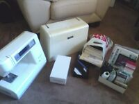 janome memory craft 8000 sewing / embroidery machine + extras