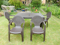 Garden Table and 4 chairs - 1 year old