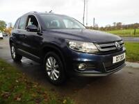 VOLKSWAGEN TIGUAN 2.0 TDi BlueMotion Tech Match 5dr DSG (blue) 2013