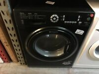 HOTPOINT 9/6 KG BLACK WASHER DRYER
