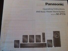 Panasonic DVD Home Theatre Sound System (SC-PT70