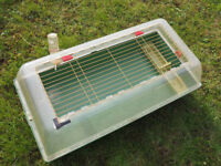 Small mammal indoor cage and outdoor run