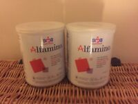 SMA Alfamino baby formula 400g 2xTINS SEALED