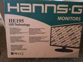 Brand new Hanns.g 19inch screen