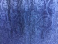 Extra large pair navy lined curtains