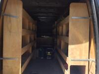 Crafter and sprinter van ply racking shelves