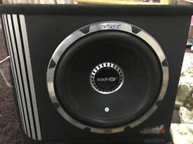 Vibe 12 inch blackair subwoofer with built in amp