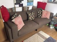 IKEA NOKEBY 3 Seater Sofa - Dark Brown. Collect only