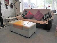 stressless ekornes reclining sofa, chair and foot stool