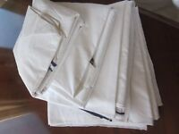 3 single duvet covers, white, cotton-rich, hotel grade, hardly used, ideal for holiday lets