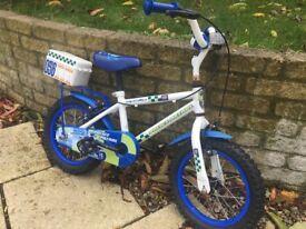 "Kids 14"" police bike from Halfords £25.00 ono"
