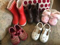 Bundle of size 7 shoes/boots/slippers