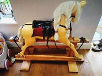 Rocking Horse, wooden - believed vintage