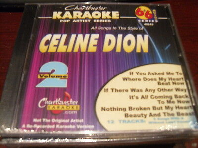 CHARTBUSTER 6+6 KARAOKE DISC 40243 CELINE DION VOL 2 CD+G POP MULTIPLEX SEALED Celine Dion Karaoke Disc