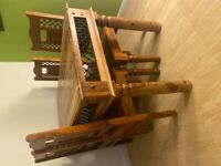 Real Wooden Dining Table + 4 chairs