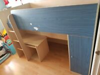 single bed highsleeper with storage