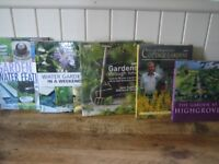 Bundle of gardening books. Cottage gardens,water gardens,gardens through time. Hardbacks. Good cond.