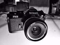 Nikon FM2 classic film.camera comes with 35mmf2.8 lens.perfectly timed shutter