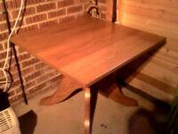 oak table 900 x 900 x 725 high