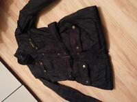 Ladies black barbour jacket size 10