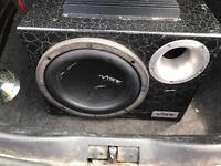 Vibe 1200 watt sub with built in amp