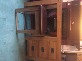 Solid Oak Dressing Table (With Matching Stool) (Great condition) (Collection only)(Open to offers)