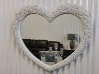 Heart Mirror White BRAND NEW