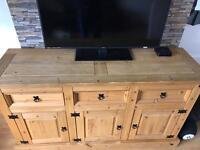Solid Pine TV unit.