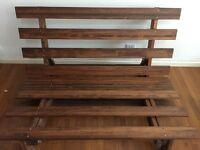 "Solid pine ""full"" size futon including mattress and sheet set - FREE for pickup only"