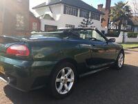 British racing green Mg Tf 1.8 135 16v convertible