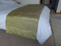 Citrus Green Quilted Bedspread/Bed Throw