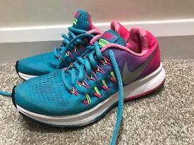 Girls Nike Trainers UK 1 - Blue/Pink