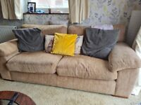 Beige 3 x 2 seater sofa
