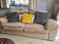Beige 3 x 2 seater sofa