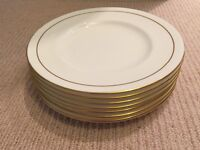 7 x Royal Worcester Contessa Side Plates. White with Gold Rim