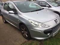 Bargain peugot 307 1.6 diesel hdi silver 56 reg. a lot of receipts and log book present