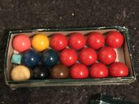 Snooker balls in small size