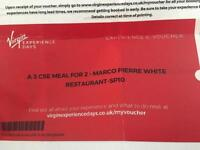 Three course meal at Marco Pierre White restaurant and Thames river sightseeing cruise for two