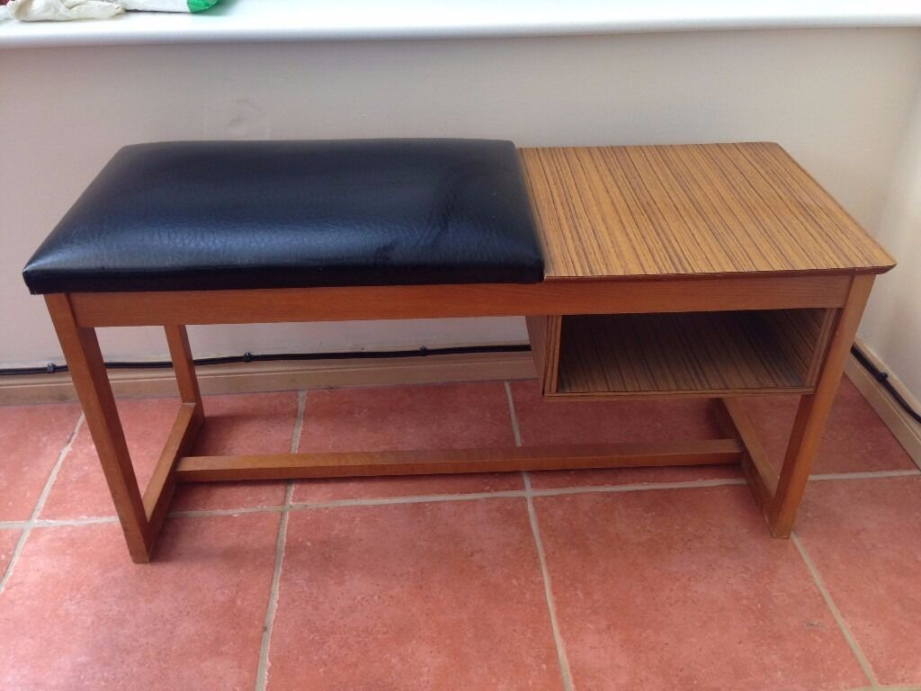 Vintage Wooden Telephone Table And Seat Ideal Shabby Chic Upcycle Project