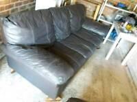 2 x Faux Leather sofas