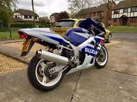 SUZUKI GSXR600 Low mileage collectible Motorcycle Removed From Private Collection