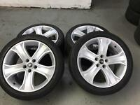 "20"" original and genuine Range Rover sport alloy wheels and tyres"