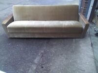 WOODEN FABRIC ANTIQUE SOFA BED - GOOD CONDITION