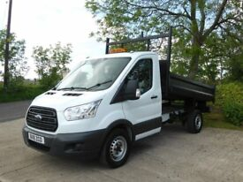 2016 FORD TRANSIT T350 TIPPER MWB 2.2 TDCI 28000 MILES SINGLE CAB 1 OWNER