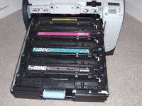 Only £25 (This would cost £hundreds new) - Part Used Branded Toners for HP Colour Laserjet CP2025