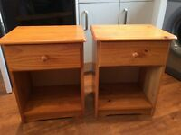 Pine Bedside Cabinets x 2