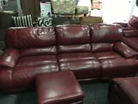 New / Ex Display LazyBoy Large Electric Recliner Sofa + Footstool