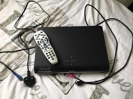 HD sky box, remote with leads