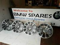 """GENUINE BMW E90 E91 E92 E93 M3 19"""" WHEELS STAGGERED WIDER REARS IN MINT CONDITION"""